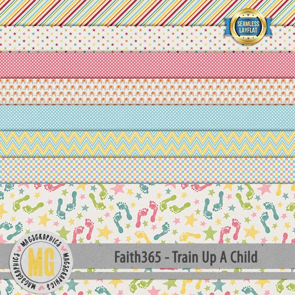 Faith365 Train Up A Child SLF Papers Digital Art - Digital Scrapbooking Kits
