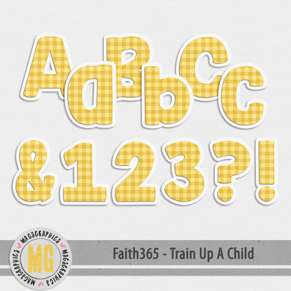 Faith365 Train Up A Child Alpha Digital Art - Digital Scrapbooking Kits
