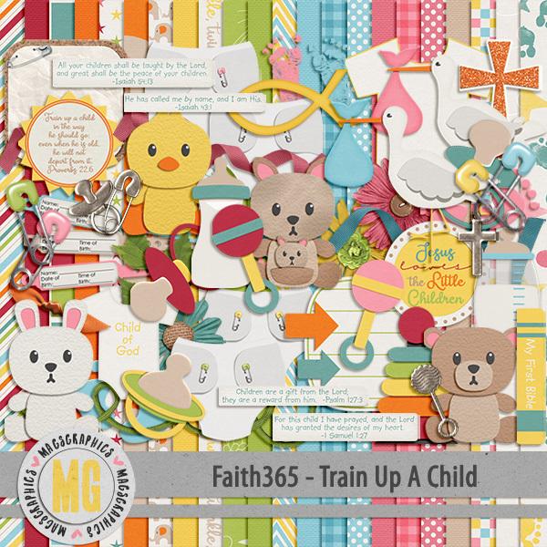 Faith365 Train Up A Child Kit Digital Art - Digital Scrapbooking Kits