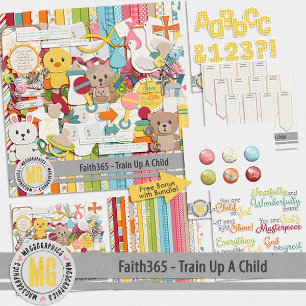 Faith365 Train Up A Child Bundle Digital Art - Digital Scrapbooking Kits