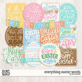 Everything Easter Words
