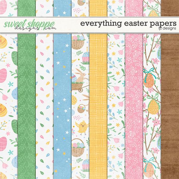 Everything Easter Papers Digital Art - Digital Scrapbooking Kits