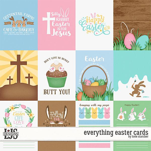 Everything Easter Cards Digital Art - Digital Scrapbooking Kits