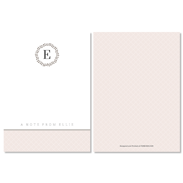 Elegant Occasion Monogram Notecard Card