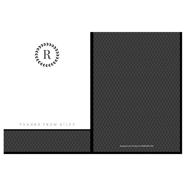 Formal Occasion Monogram Notecard