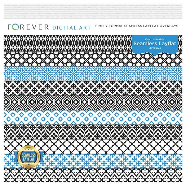 Simply Formal Seamless Layflat Overlays Digital Art - Digital Scrapbooking Kits