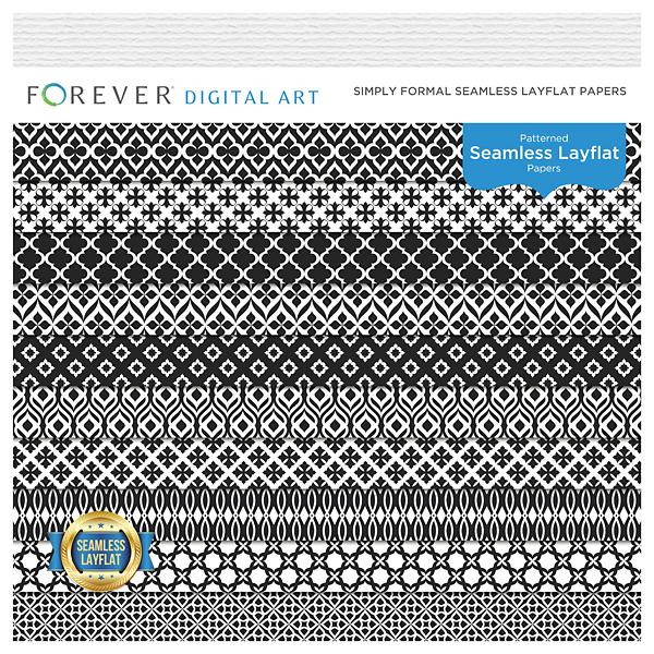 Simply Formal Seamless Layflat Papers Digital Art - Digital Scrapbooking Kits