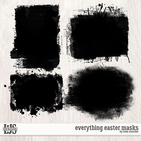 Everything Easter Masks Digital Art - Digital Scrapbooking Kits