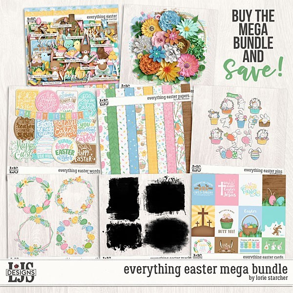 Everything Easter Mega Bundle Digital Art - Digital Scrapbooking Kits