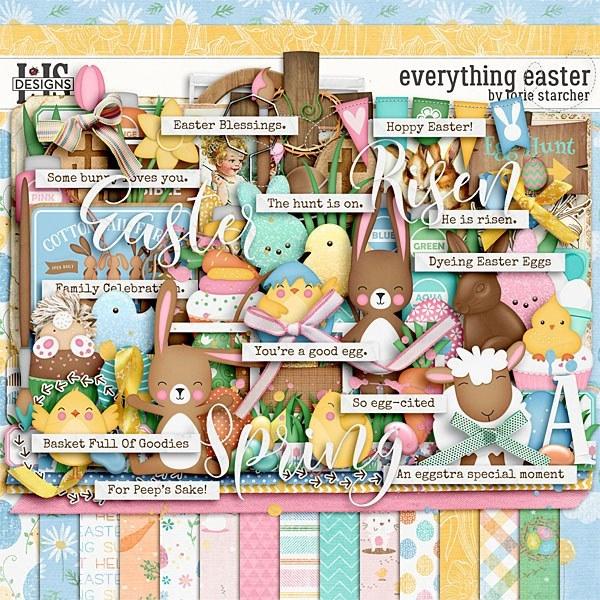 Everything Easter Digital Art - Digital Scrapbooking Kits