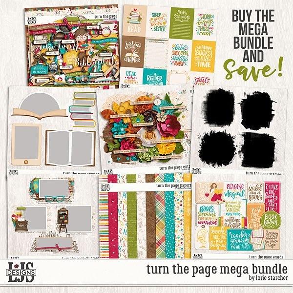 Turn The Page Mega Bundle Digital Art - Digital Scrapbooking Kits