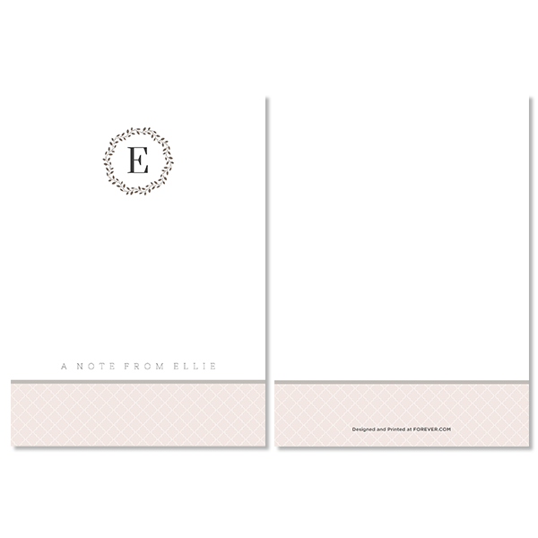 Elegant Occasion Monogram Notecard