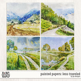 Painted Papers - Less Traveled
