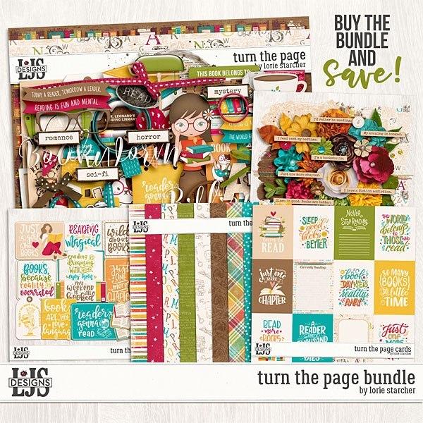 Turn The Page Bundle Digital Art - Digital Scrapbooking Kits