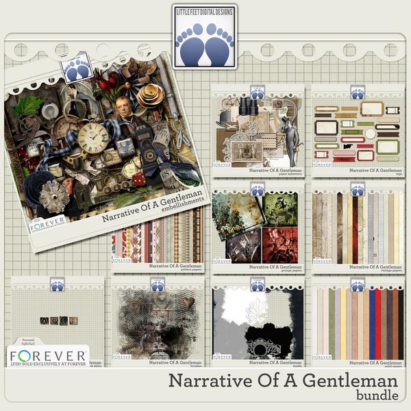 Narrative Of A Gentleman Bundle Digital Art - Digital Scrapbooking Kits