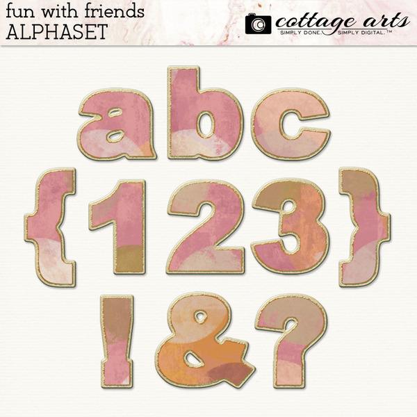Fun with Friends AlphaSet Digital Art - Digital Scrapbooking Kits
