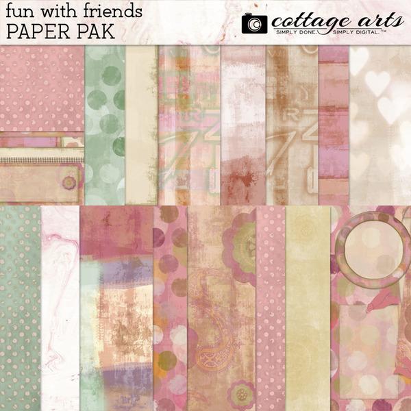 Fun with Friends Paper Pak Digital Art - Digital Scrapbooking Kits