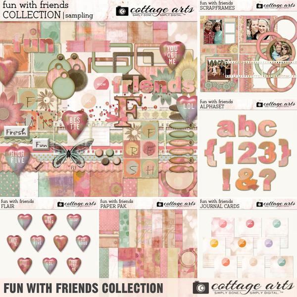 Fun with Friends Collection Digital Art - Digital Scrapbooking Kits