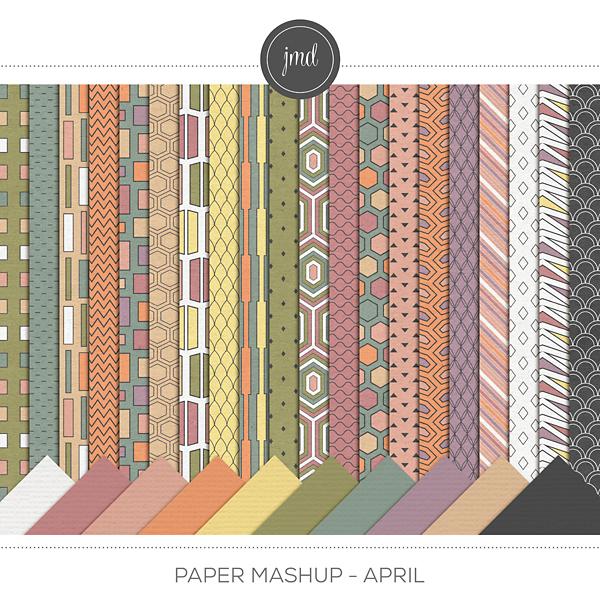 Paper Mashup - April Digital Art - Digital Scrapbooking Kits