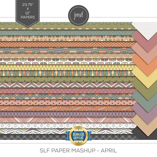 SLF Paper Mashup - April Digital Art - Digital Scrapbooking Kits