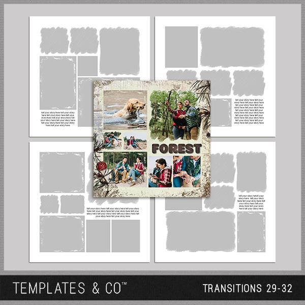 Transitions 29-32 Digital Art - Digital Scrapbooking Kits