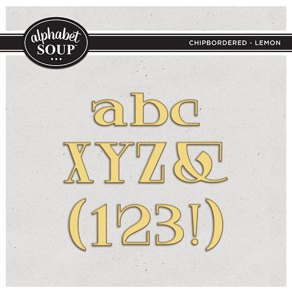 Chipboarded Collection - Lemon Digital Art - Digital Scrapbooking Kits