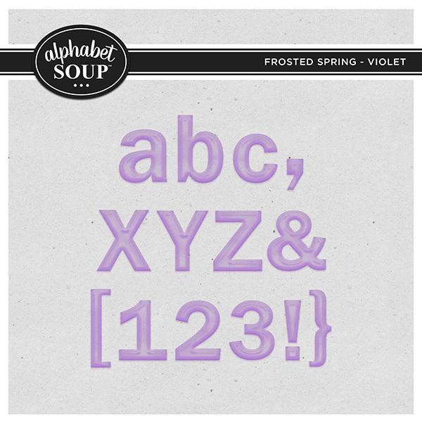 Frosted Spring Collection - Violet Digital Art - Digital Scrapbooking Kits