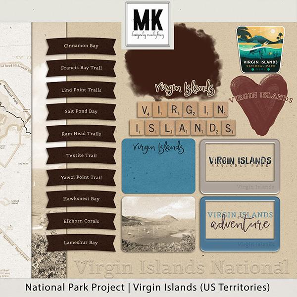 National Park Project Virgin Islands Digital Art - Digital Scrapbooking Kits