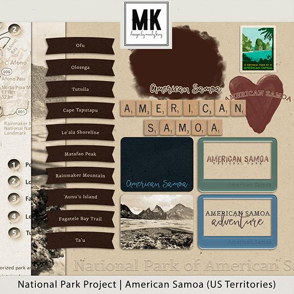 National Park Project American Samoa Digital Art - Digital Scrapbooking Kits