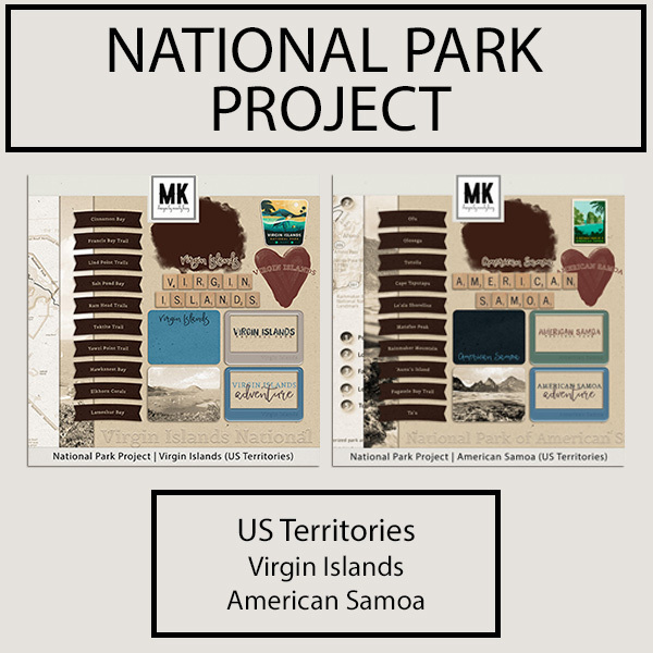 National Park Project US Territories Collection Digital Art - Digital Scrapbooking Kits