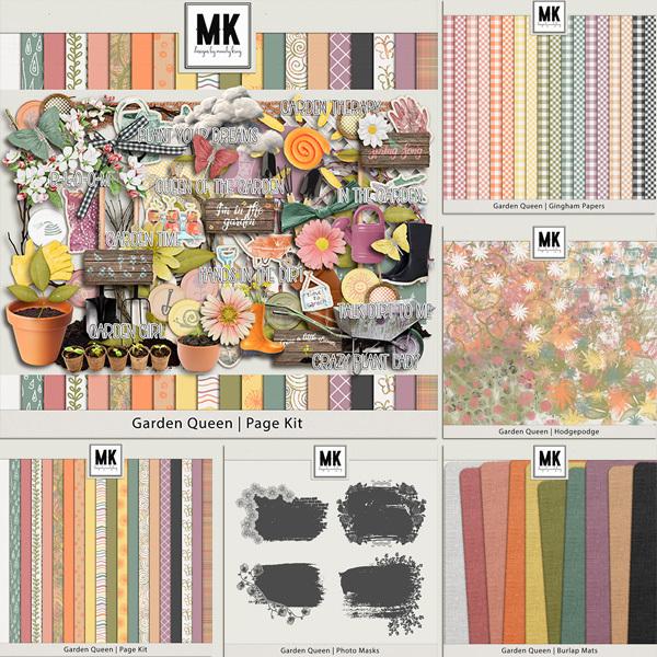 Garden Queen Bundle Digital Art - Digital Scrapbooking Kits