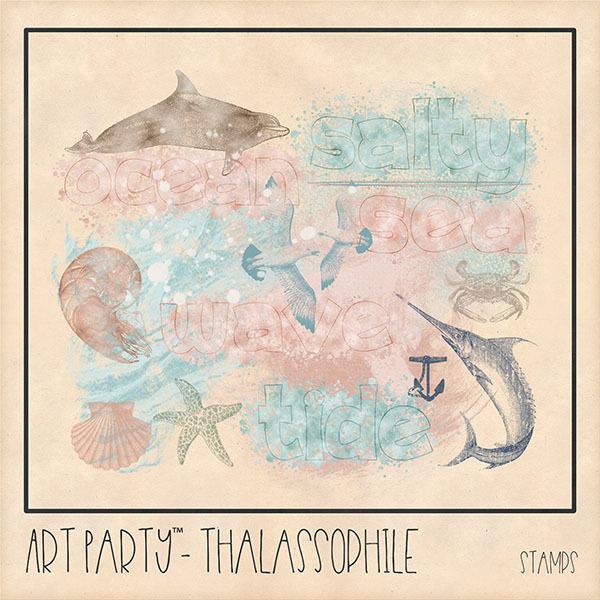 Thalassophile Stamped Pieces Digital Art - Digital Scrapbooking Kits