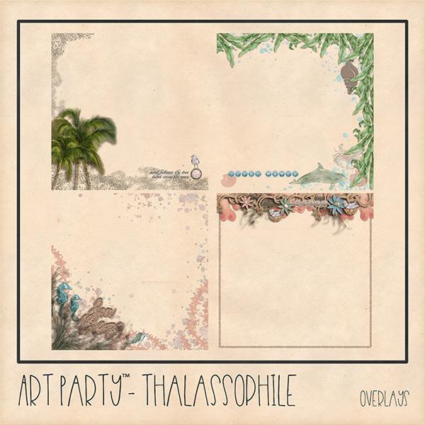 Thalassophile Overlays Digital Art - Digital Scrapbooking Kits