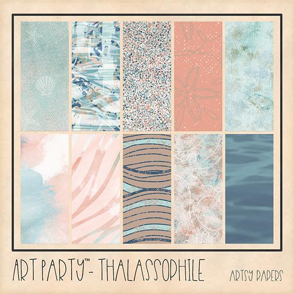Thalassophile Artsy Papers Digital Art - Digital Scrapbooking Kits
