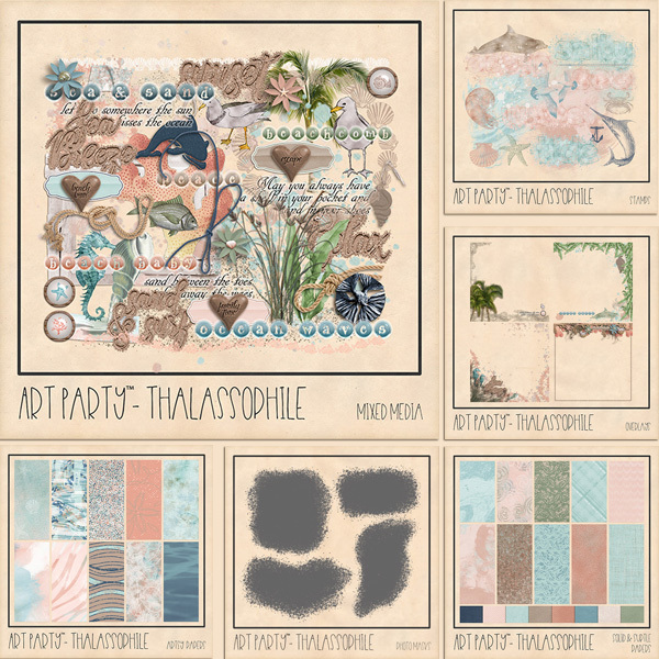Thalassophile Complete Collection Digital Art - Digital Scrapbooking Kits