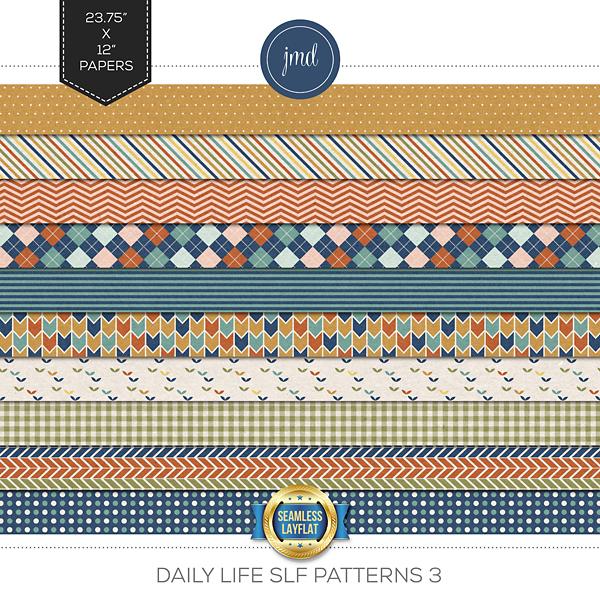 Daily Life SLF Patterns 3 Digital Art - Digital Scrapbooking Kits
