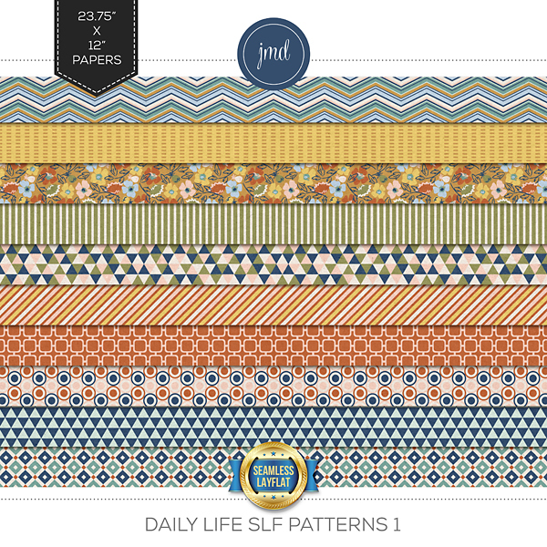 Daily Life SLF Patterns 1 Digital Art - Digital Scrapbooking Kits