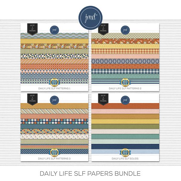 Daily Life SLF Papers Bundle Digital Art - Digital Scrapbooking Kits