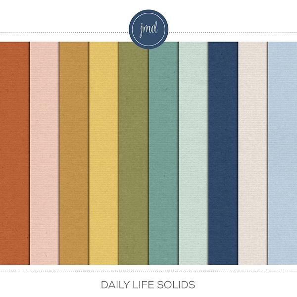Daily Life Solids Digital Art - Digital Scrapbooking Kits