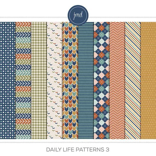 Daily Life Patterns 3 Digital Art - Digital Scrapbooking Kits