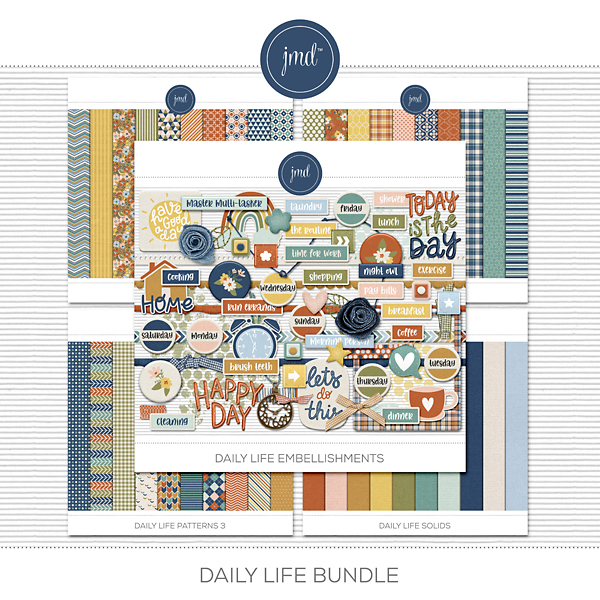 Daily Life Bundle Digital Art - Digital Scrapbooking Kits