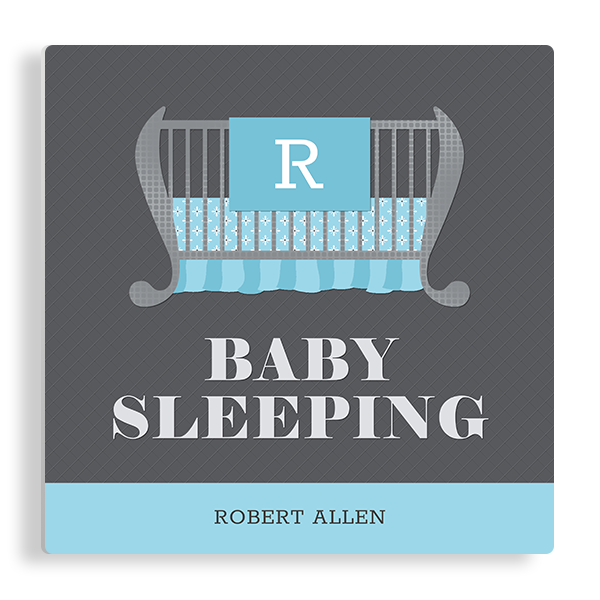 Baby Sleeping in Blue Panel