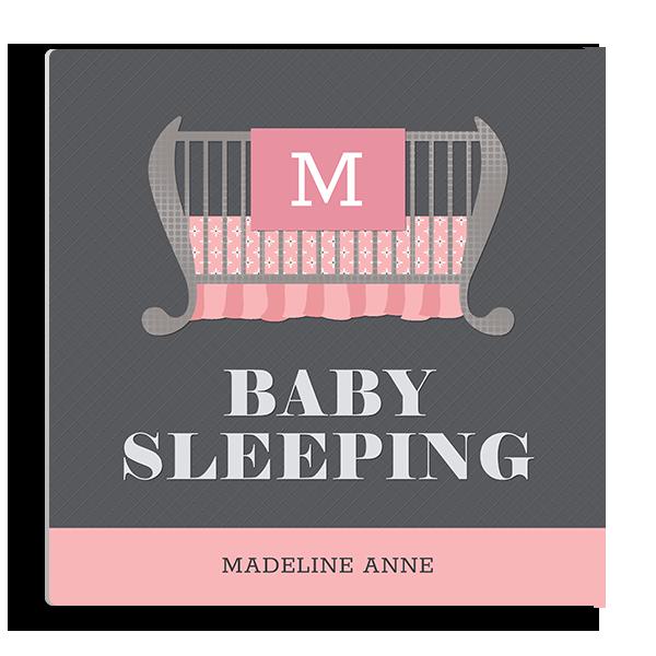 Baby Sleeping in Pink Panel Panel