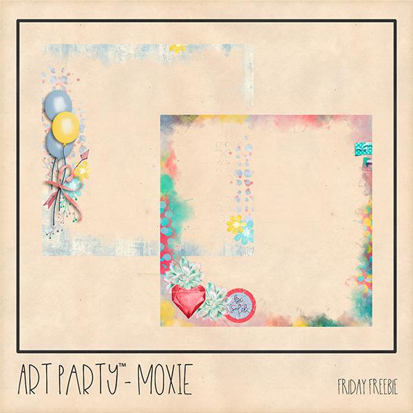 Moxie Friday Freebie Digital Art - Digital Scrapbooking Kits