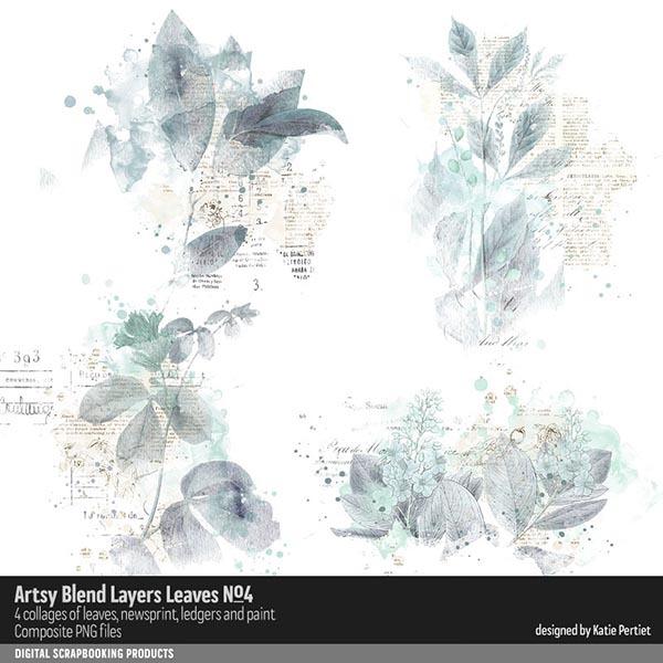 Artsy Blend Layers Leaves 04 Digital Art - Digital Scrapbooking Kits