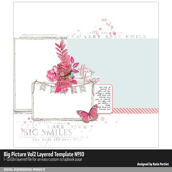 Big Picture Vol. 02 Layered Template 10 Digital Art - Digital Scrapbooking Kits