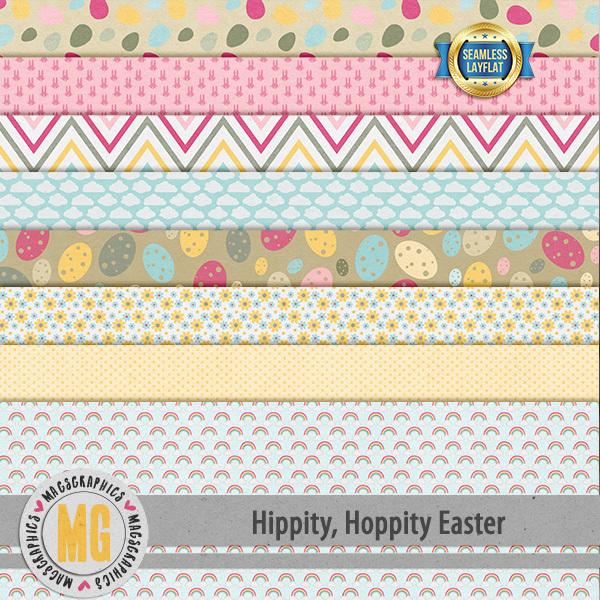 Hippity Hoppity Easter SLF Papers Digital Art - Digital Scrapbooking Kits