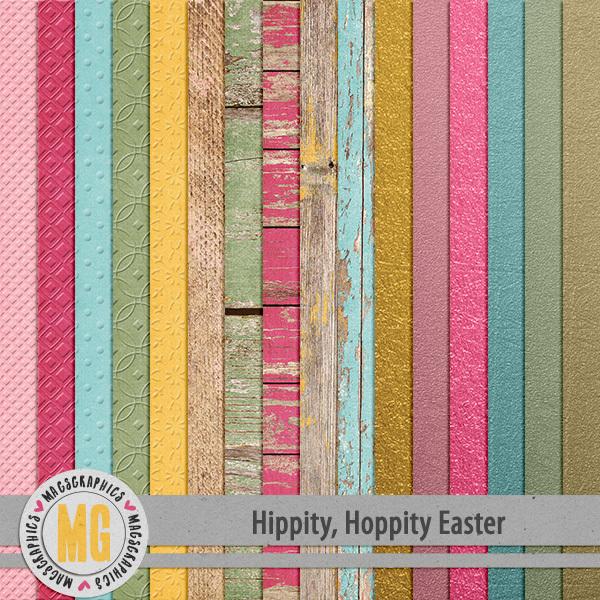 Hippity Hoppity Easter Specialty Papers Digital Art - Digital Scrapbooking Kits