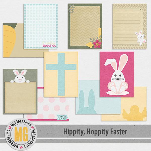 Hippity Hoppity Easter Journal Cards Digital Art - Digital Scrapbooking Kits