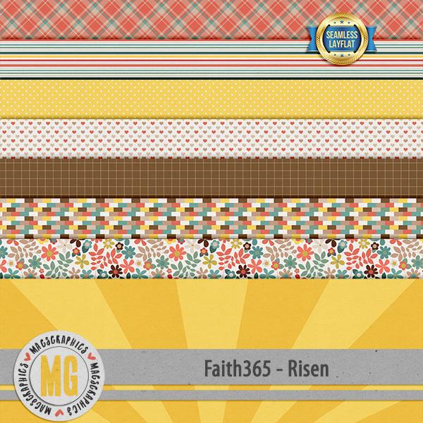Faith365 Risen SLF Papers Digital Art - Digital Scrapbooking Kits